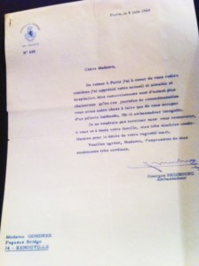 Lettre Ambassadeur du Luxembourg