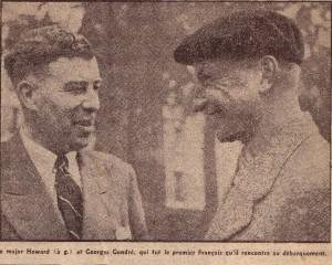 major Howard et G Gondré premier Français qu'il rencontre