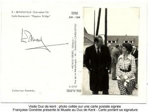 pegasus bridge visite du duc de Kent