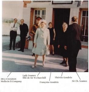 Lady Mary Soames fille de Sir W Churchill