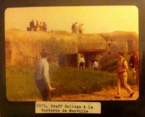 Staff College visite la Batterie dans les années 1970